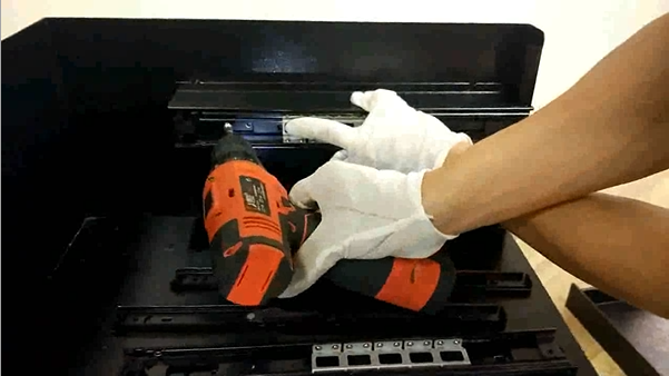 Metal Tool Chest - Installation Inspection After Powder Coating
