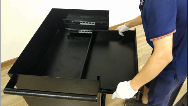 Metal Tool Box- Installation Inspection After Powder Coating