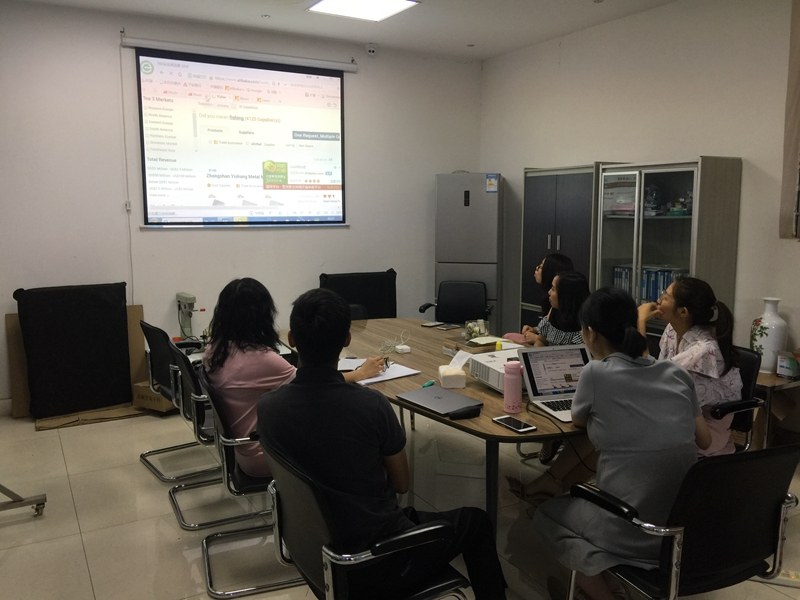 YISHANG -Sales Department Training And Studying, Zhongshan Yishang Metal Products Co-1