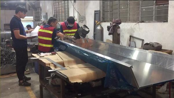Aluminum Fabrication - Inspect Welding of Large Aluminum Product