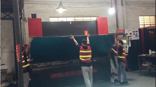 Aluminum Fabrication - Bending Large Aluminum Enclosure