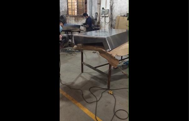 Aluminum Fabrication - Grinding Aluminum Enclosure