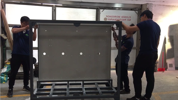 Installation QC For Large Metal Cabinet