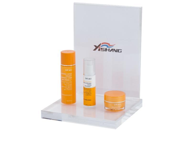 Custom Acrylic Cosmetic Table Display Stand For USA Customer
