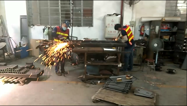 Sheet Metal Fabrication - Metal Frame Grinding