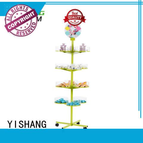 free dual rotating display stand display YISHANG Brand