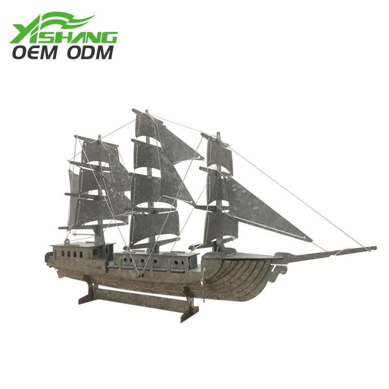 YISHANG -Diy Galvanized Metal Pirate Ship Decor Supplier On Yishang