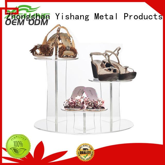 rotating metal stand shoe display YISHANG Brand company