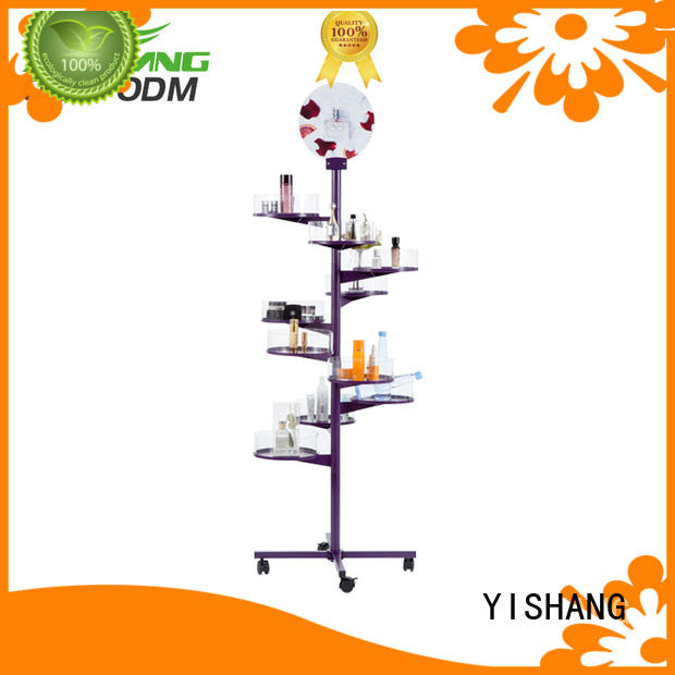 YISHANG lights makeup display stand high end for cosmetic stores