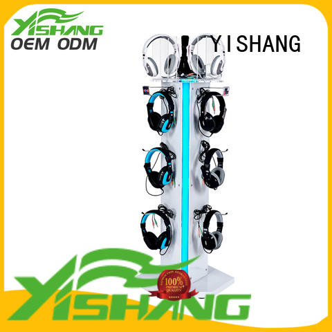 Wholesale stand metal headphone stand store YISHANG Brand