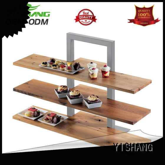 YISHANG hooks rotating display stand with for retail stores