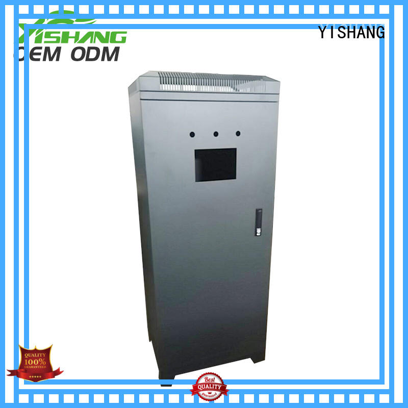 YISHANG metal case on wheels for shopping mall