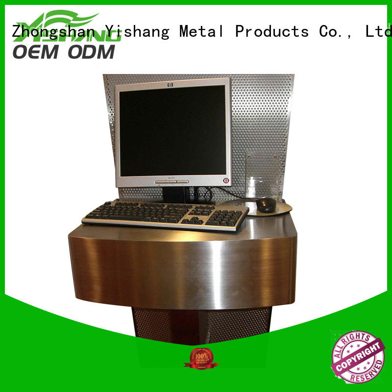 gold Custom frames metal parts fabrication YISHANG