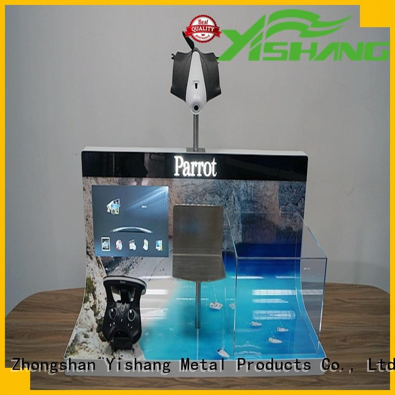 YISHANG remote rotary display stand begging for shopping mall