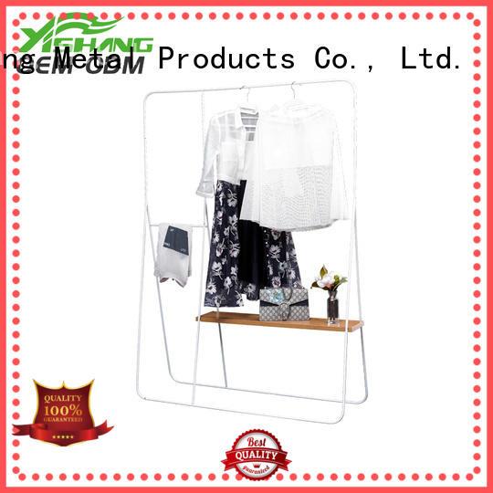 YISHANG cloth garments display with mixed material for shopping mall