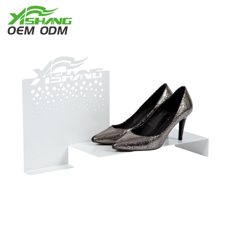 YISHANG -Custom Creative Countertop Metal Shoe Display Ideas | Shoes Display Factory