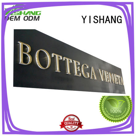 YISHANG metal metal letters for outdoor signs manufacturer for wall