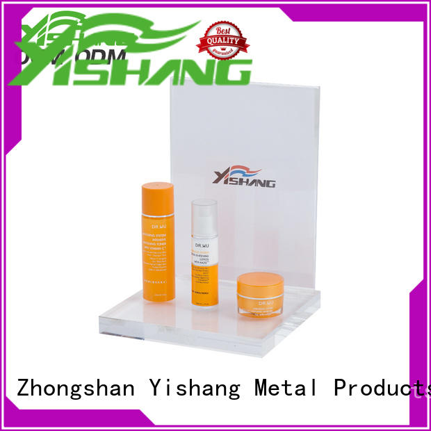 YISHANG metal makeup stand design for cosmetic stores