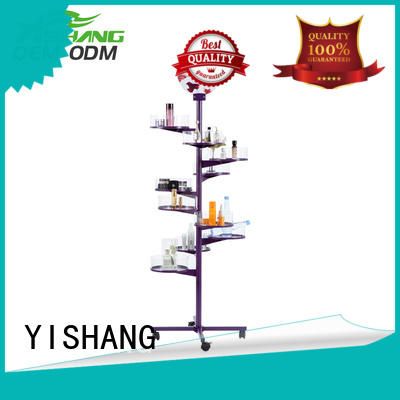 YISHANG stand makeup stand design for cosmetic stores