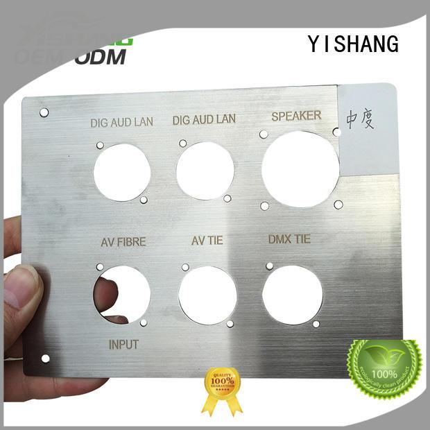 YISHANG custom made metal parts blanks logo