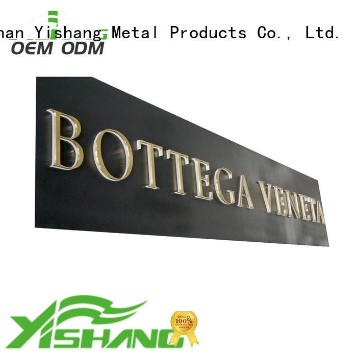 metal large metal letters manufacturer for advertising