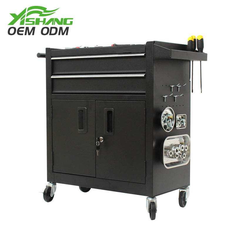 YISHANG -Custom Lockable Metal Tool Cabinet On Wheels - Yishang Display