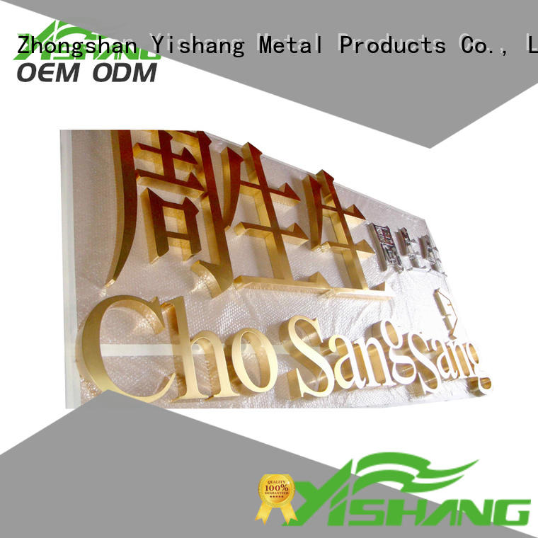 YISHANG letters metal letters manufacturer for advertising