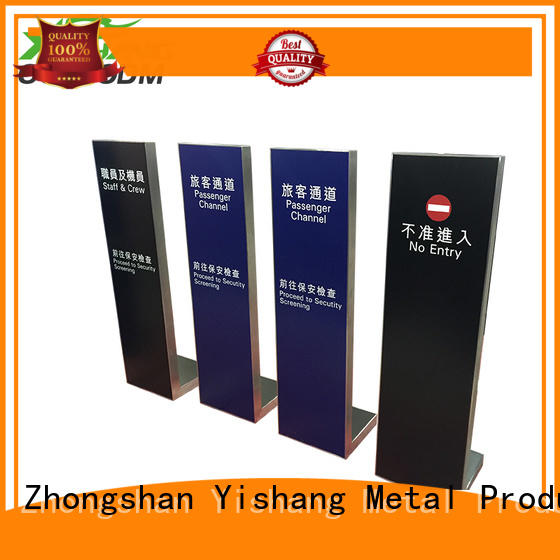 YISHANG stand sign holder fast delivery for signage companies