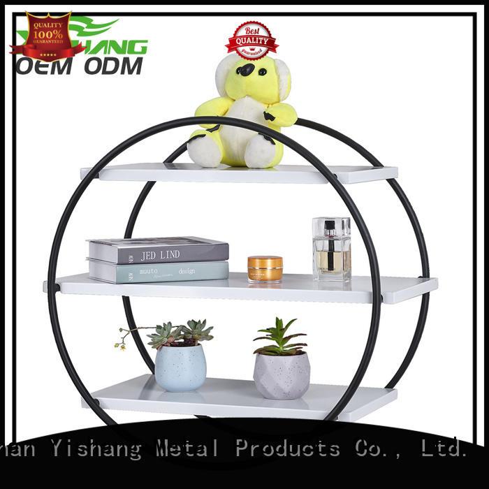 round metal wall organizer storage organizer YISHANG Brand